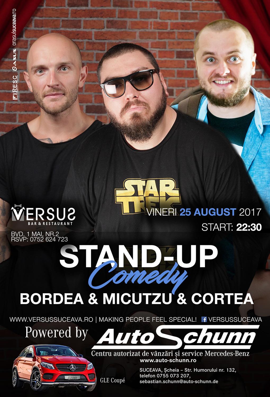 Stand-up comedy cu Bordea, Micutzu și Cortea