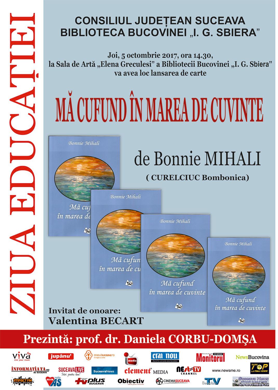 Bonnie Mihali - Mă confund în marea de cuvinte