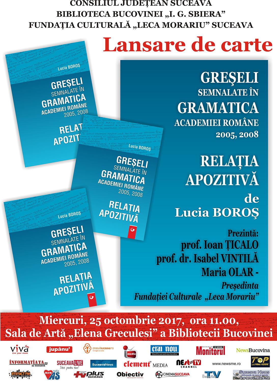 Greșeli semnalate în gramatica Academiei Române 2005, 2008 - Relația apozitivă
