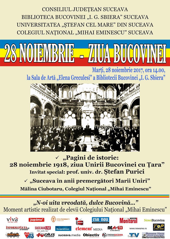 28 noiembrie - Ziua Bucovinei