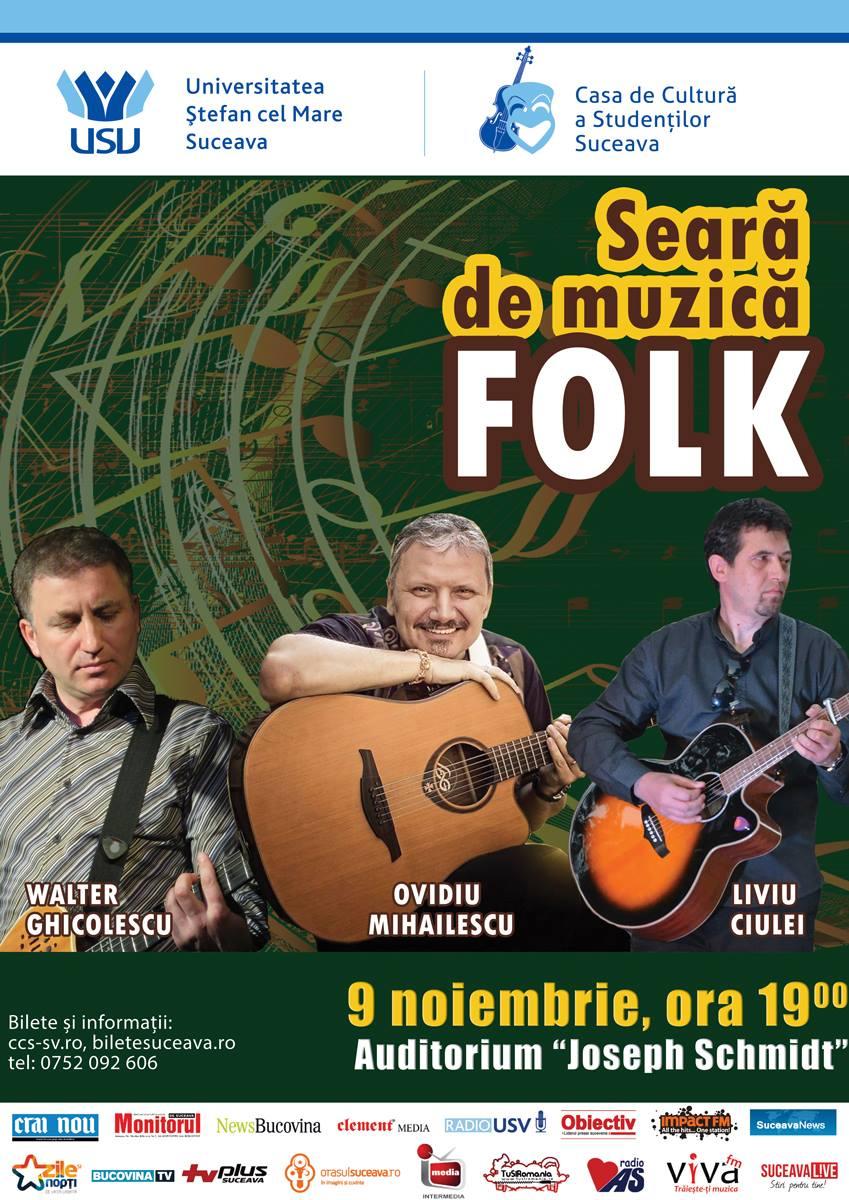 Seară de muzică folk