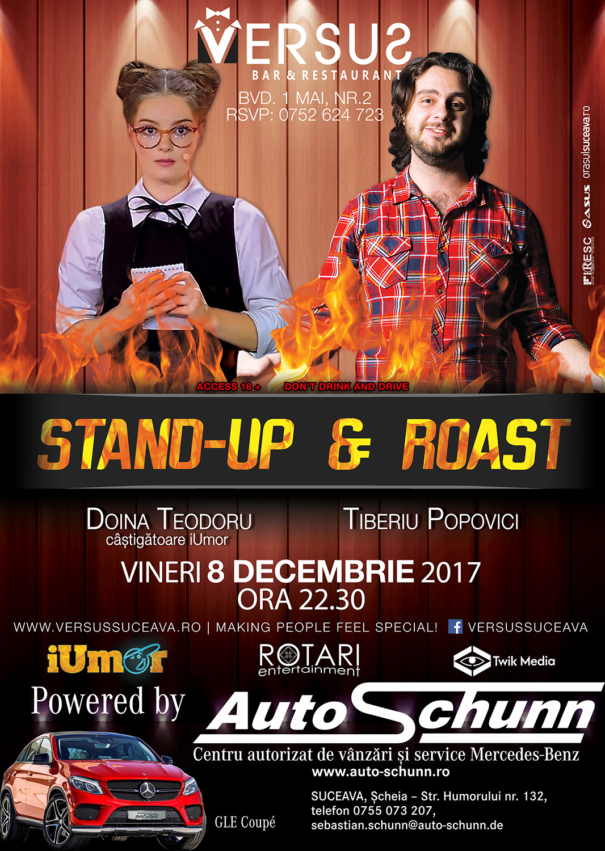 Stand-up comedy și roast cu Doina Teodoru și Tiberiu Popovici