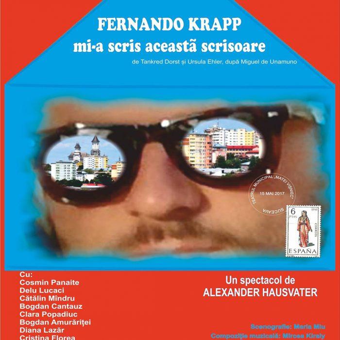 Fernando Krapp mi-a scris această scrisoare