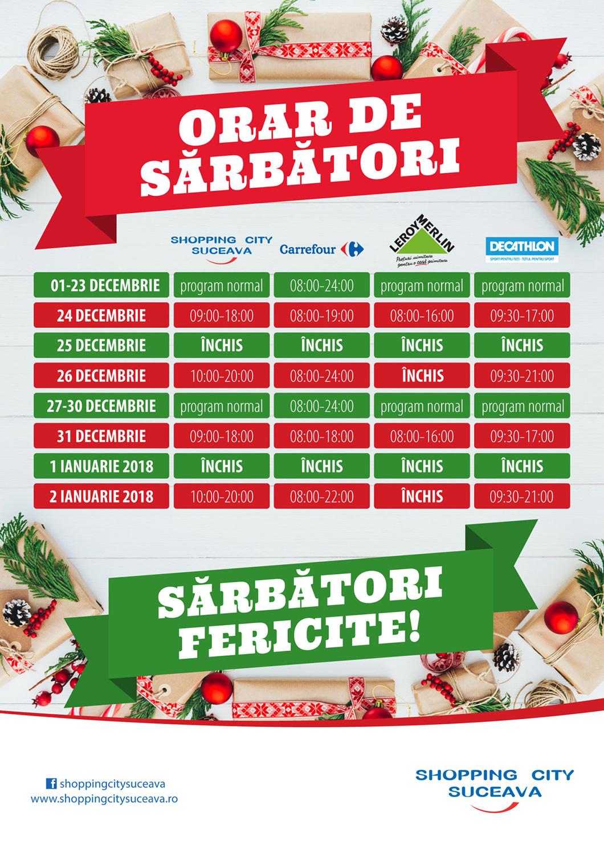 Shopping City Suceava va avea un program special de sărbători