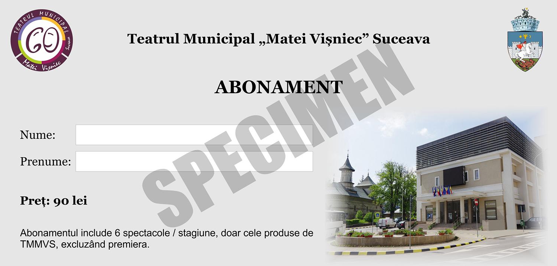Abonamente și reduceri de grup la Teatrul Municipal Matei Vișniec din Suceava