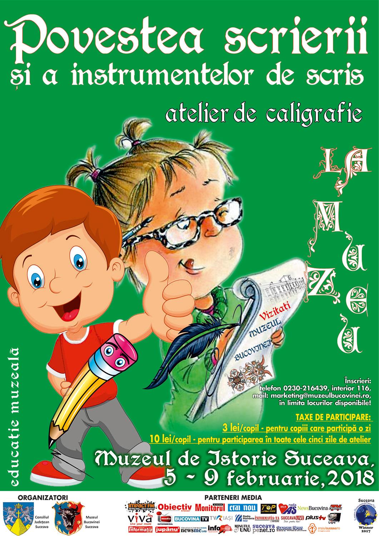 Povestea scrierii și a instrumentelor de scris – atelier de caligrafie