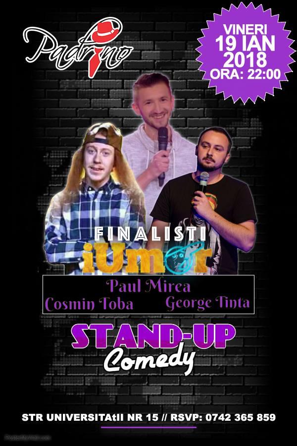 Stand-up comedy cu Paul Mirea, Cosmin Tobă și George Țintă