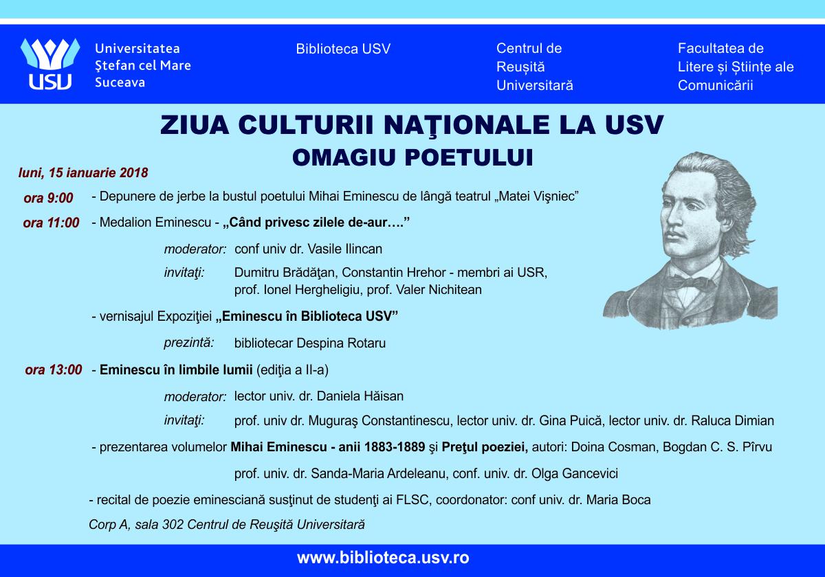 Ziua Culturii Naționale la USV