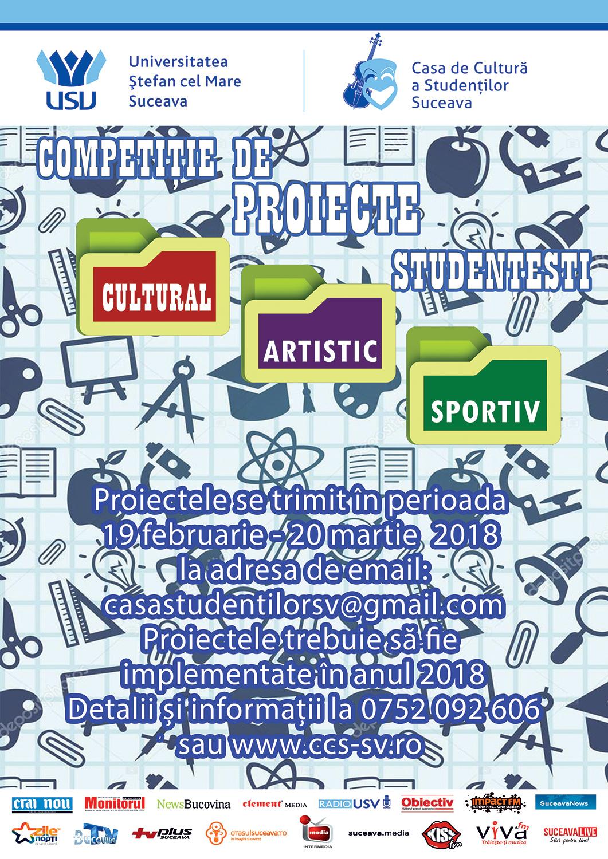 Concurs de proiecte la Casa de Cultură a Studenților din Suceava