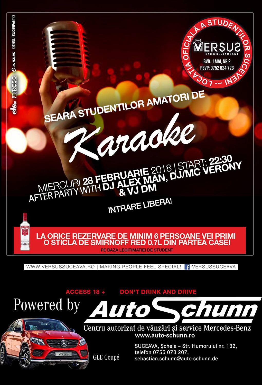 Seara studenților amatori de karaoke