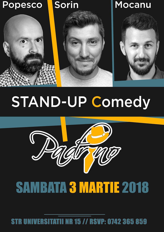 Stand-up comedy cu Cristi Popesco, Sorin Pârcălab și Alex Mocanu