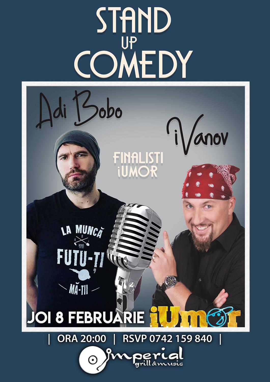 Stand-up comedy cu iVanov și Adi Bobo