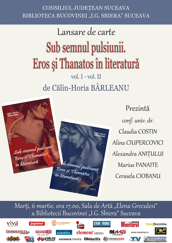 Sub semnul pulsiunii. Eros și Thanatos în literatură (volumul I – volumul II)