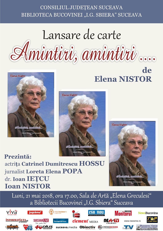 Elena Nistor - Amintiri, amintiri...