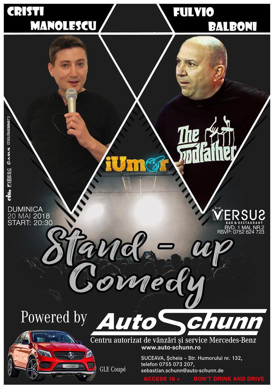Stand-up comedy cu Cristi Manolescu și Fulvio Balboni