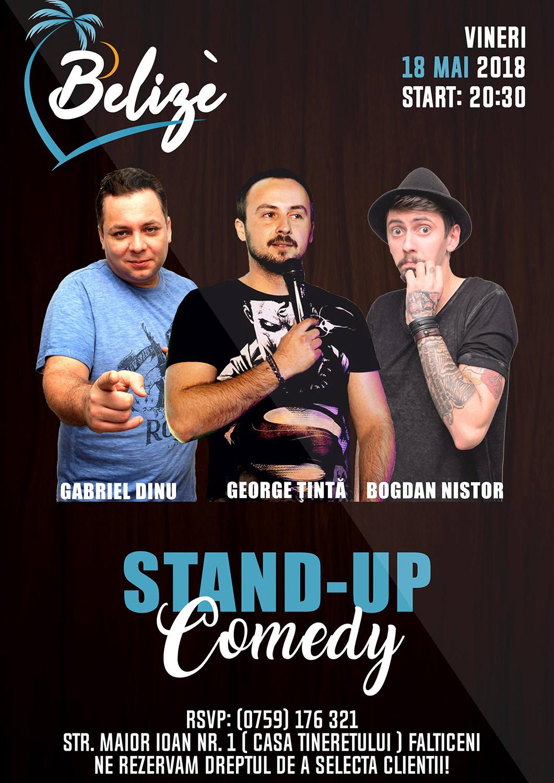 Stand-up comedy cu Gabriel Dinu, George Țintă și Bogdan Nistor