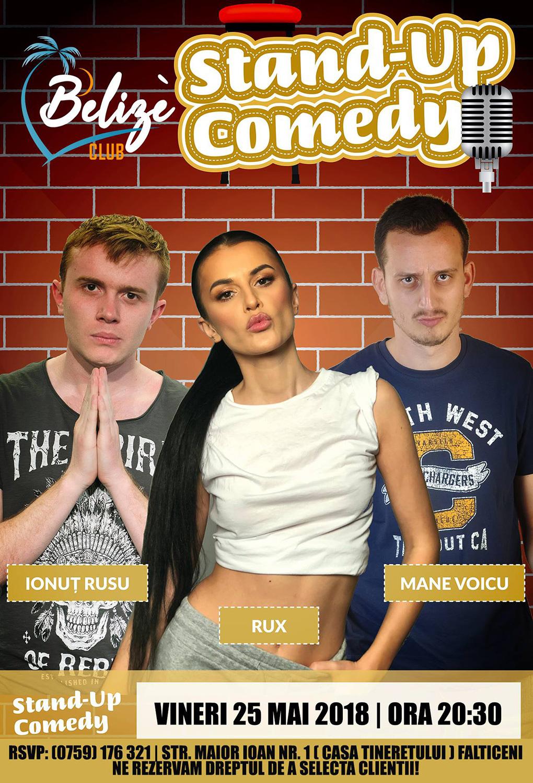 Stand-up comedy cu Ionuț Rusu, Rux și Mane Voicu
