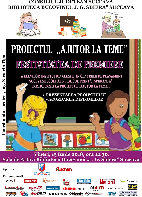 """Proiectul """"Ajutor la teme"""" la finele celui de-al optulea an de desfășurare"""