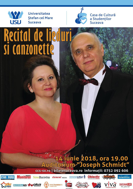 Recital de lieduri și canzonette