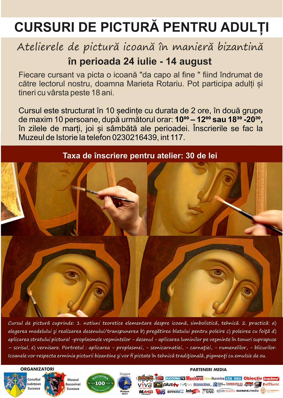 Atelier de pictură icoană în manieră bizantină pentru adulți