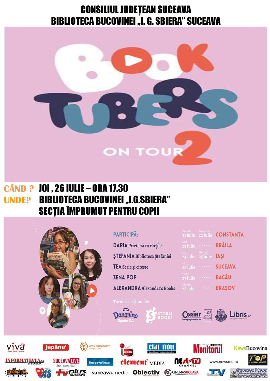 """Booktubers on Tour"" la Biblioteca Bucovinei I. G. Sbiera din Suceava"