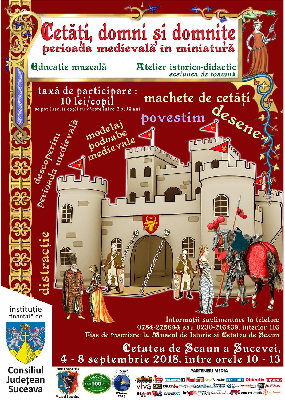 Cetăți, domni și domnițe - perioada medievală în miniatură