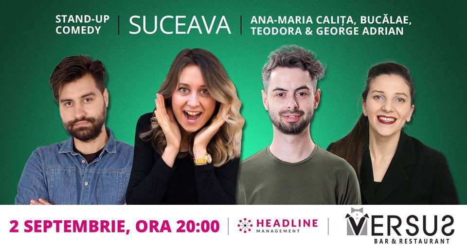 Stand-up comedy cu Ana Maria Calița, Radu Bucălae, Teodora Nedelcu și George Adrian