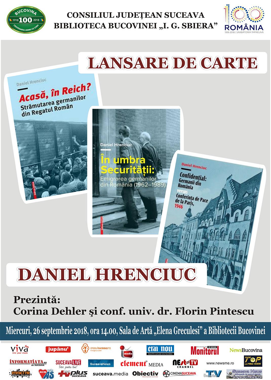Daniel Hrenciuc – triplă lansare de carte
