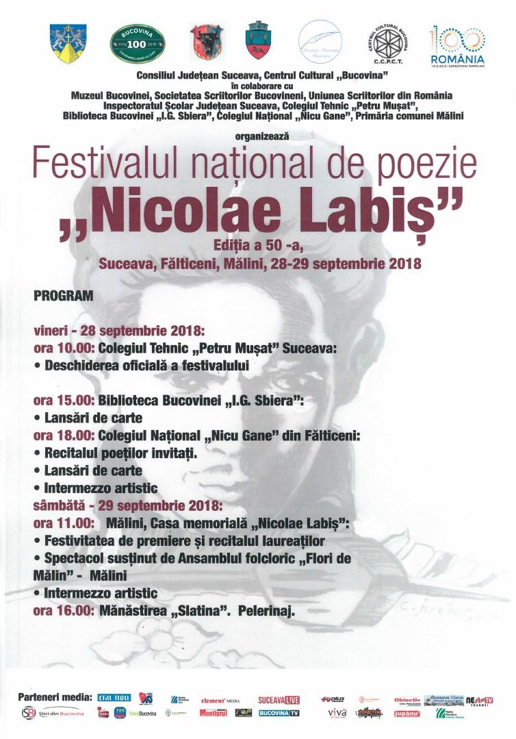 Festivalul național de poezie Nicolae Labiș (2018)