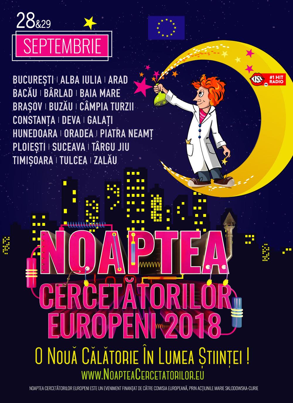 Noaptea Cercetătorilor Europeni din acest an va fi sărbătorită în peste 20 de localități din România