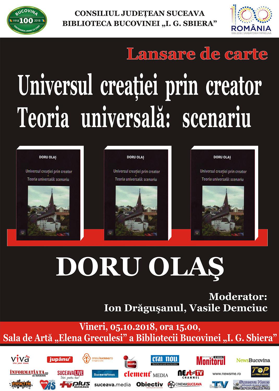 Doru Olaș - Universul creației prin creator. Teoria universală: scenariu