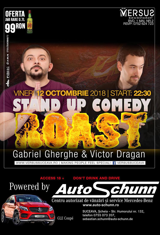 Stand-up comedy și roast cu Gabriel Gherghe și Victor Drăgan
