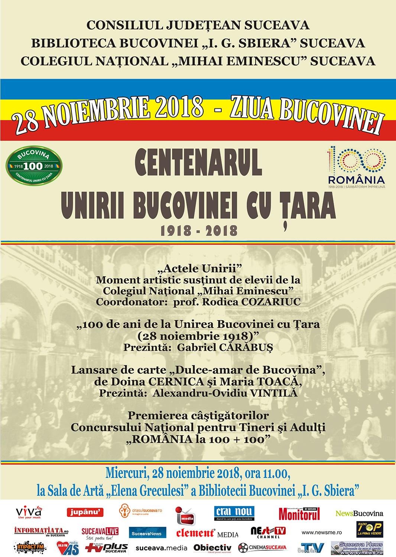 Centenarul Unirii Bucovinei cu țara