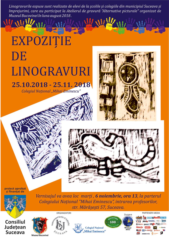 Expoziție de linogravuri