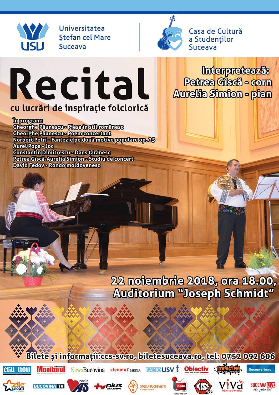 Recital de lucrări de inspirație folclorică