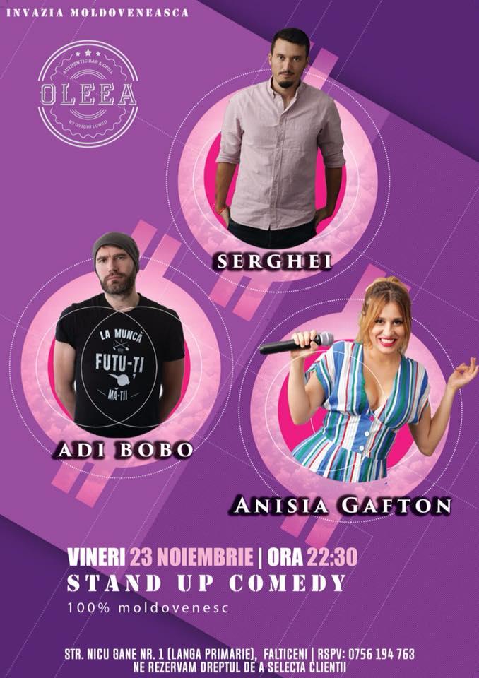 Stand-up comedy cu Adi Bobo, Serghei și Anisia