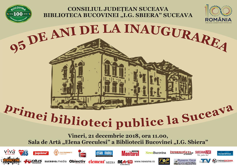 95 de ani de la inaugurarea primei biblioteci publice la Suceava