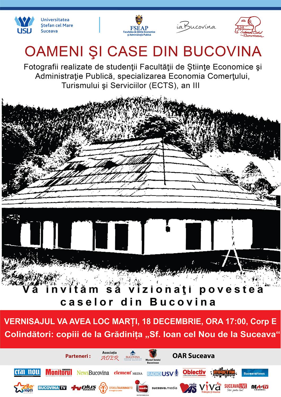 Oameni și case din Bucovina