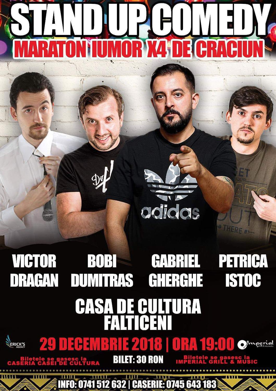 Stand-up comedy cu Bobi Dumitraș, Gabriel Gherghe, Victor Drăgan și Petrică Iștoc