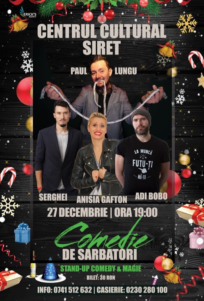 Stand-up comedy cu Serghei, Anisia Gafton și Adi Bobo