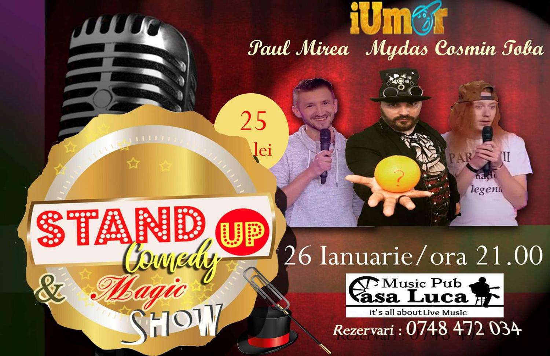 Stand-up comedy cu Paul Mirea, Mydas și Cosmin Tobă