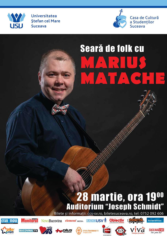 Seară de folk cu Marius Matache