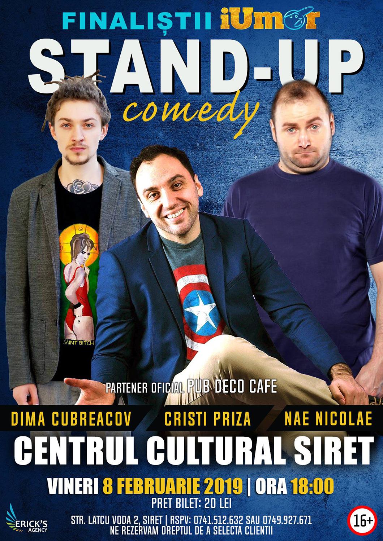 Stand-up comedy cu Dima Cubreacov, Cristi Priză și Nae Nicolae
