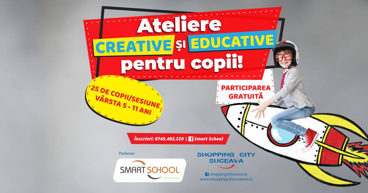 Ateliere creative și educative pentru copii