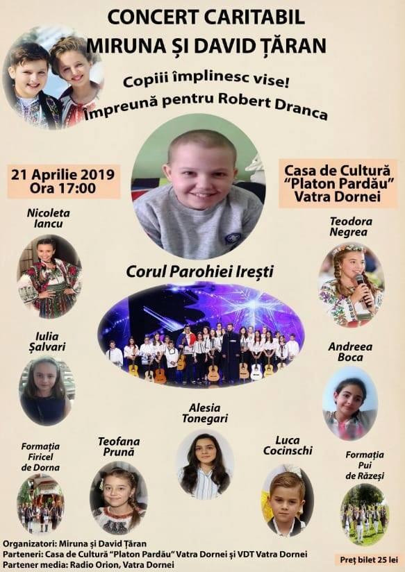 Copiii împlinesc vise pentru Robert Dranca