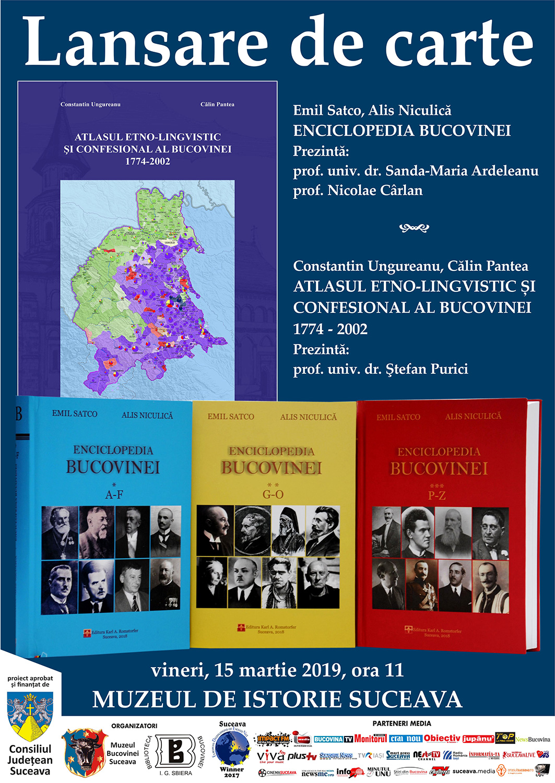 """""""Enciclopedia Bucovinei"""" și """"Atlasul etno-lingvistic și confesional al Bucovinei, 1774-2002"""""""