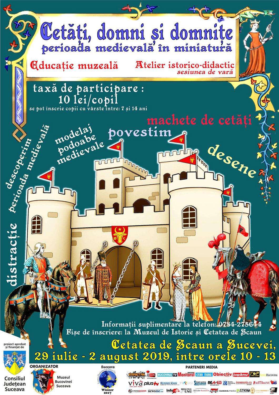 Cetăți, domni și domnițe – perioada medievală în miniatură