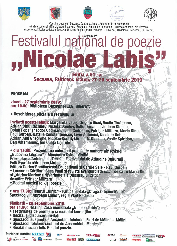 Festivalul național de poezie Nicolae Labiș (2019)