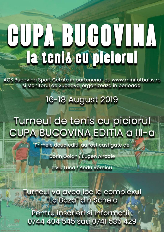 Cupa Bucovina la tenis cu piciorul