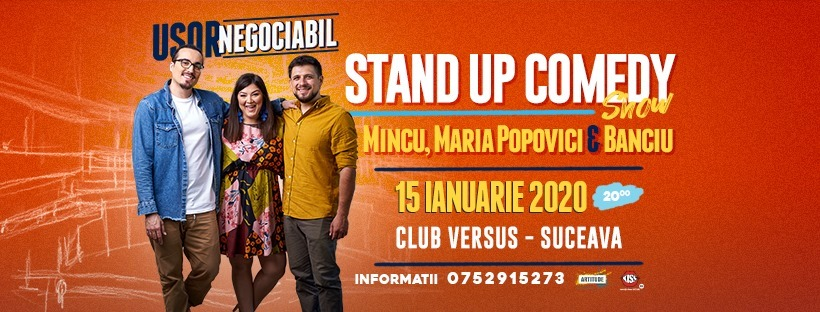 Stand-up comedy cu Mincu, Maria Popovici și Alexandru Banciu